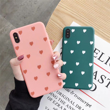 Liquid silicone love matte phone case For iphoneXS MAX XR X cute TPU soft shell iphone 6 6s 7 8plus gift back cover