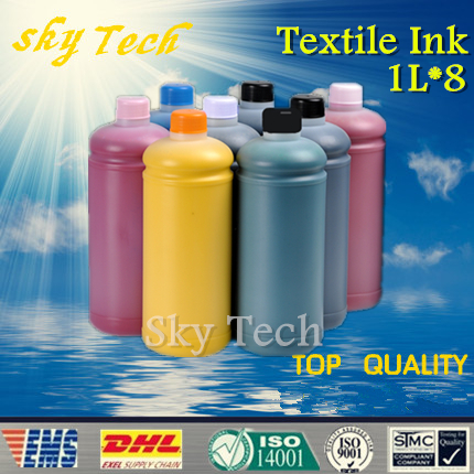 ФОТО 1L*8 color Textile ink suit for Epson 8 color printhead Flatbed  Printer , BK C M Y LC LM LBK LLBK ,  4800 4880 7800 7880