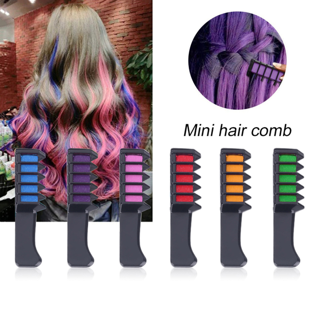 Mini Tek Kullanımlık Kişisel Kullanım kalem saç boyası Renk Tarak Boyası Kitleri Geçici parti Cosplay Kıllar Boyama Ücretsiz Saç Bakım Seti TSLM2