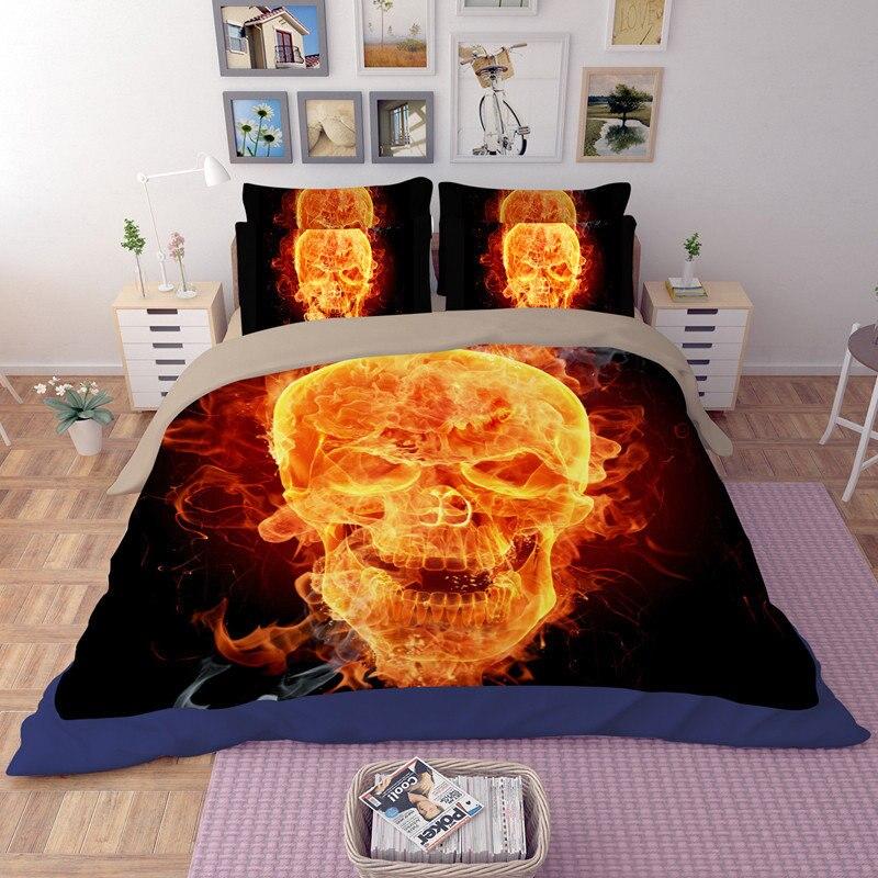 New Unique Design 3d Skull Bedding Sets Sugar Skulls Duvet