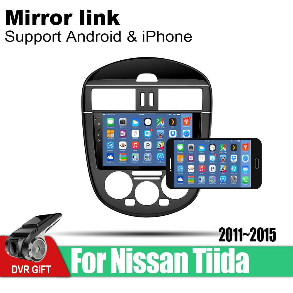 ZaiXi 車の gps 、マルチメディアプレーヤー日産ティーダ 2011 〜 2015 車 Android ナビゲーションライドウ用オーディオプレーヤーステレオオーディオ wifi