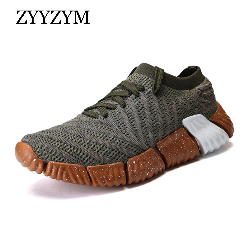 ZYYZYM Men Fashion Sneakers Lace Up Style Breathable Mesh Male Shoes Fashion Flats Men Casual Shoes in Men 39 s Casual Shoes from Shoes