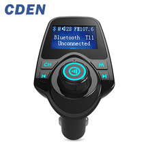 CDEN Bluetooth Car Kit Hands cigarette lighter type Bluetooth card machine U disk mp3 player lossless music AUX Dual USB Charger