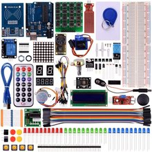 Miroad RFID Master Kit with Motor Servo, LCD, Various Sensors for Arduino IDE AVR MCU Learner Compatible With Arduino UNO R3 K6