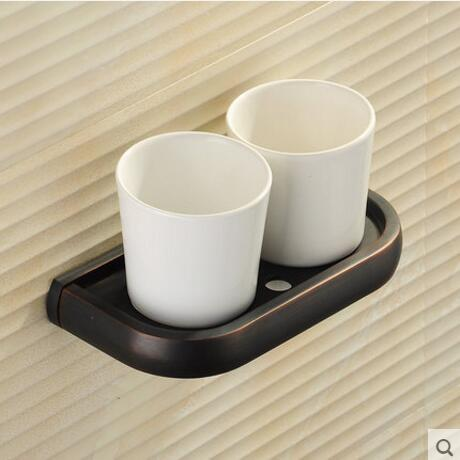 New Arrivals Modern washroom toothbrush holder luxury European style tumbler & cup holder wall mounted bath product 5 colors the ivory white european super suction wall mounted gate unique smoke door