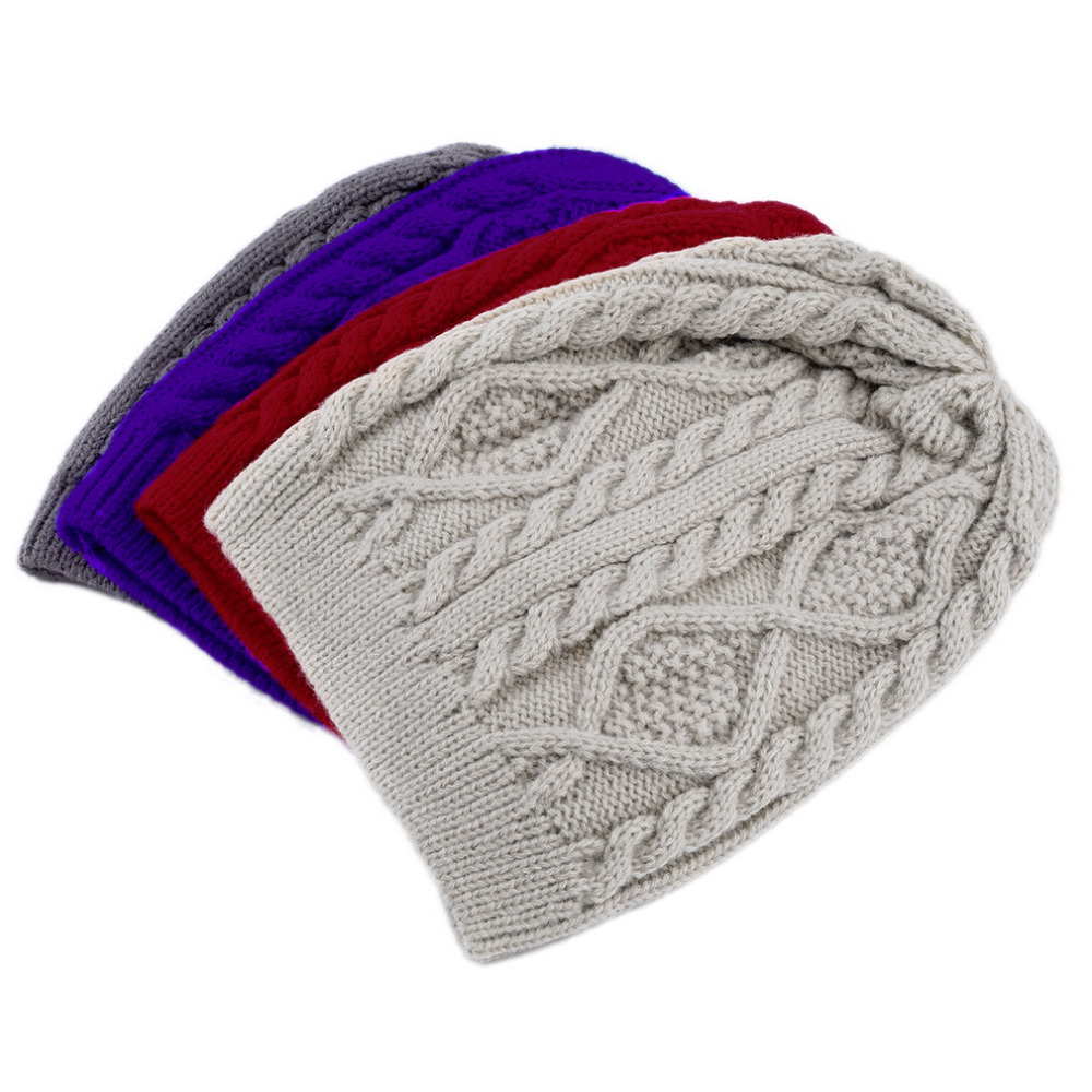 Unisex Women Men Winter Warm Knitted Crochet Baggy Beanie Hat Cap  Hot 2017 winter women beanie skullies men hiphop hats knitted hat baggy crochet cap bonnets femme en laine homme gorros de lana
