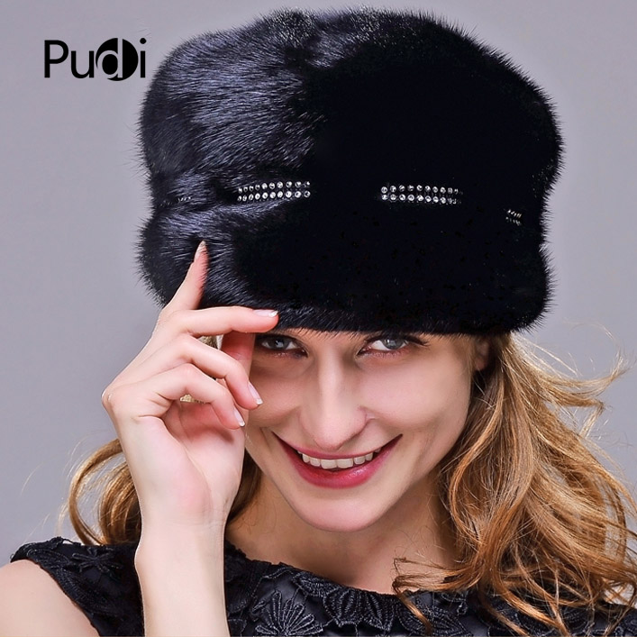 HM017 Real genuine mink fur hat Winter hats for women whole piece mink fur hats Winter Cap hm039 real genuine mink hat winter russian men s warm caps whole piece mink fur hats