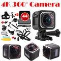 Frete grátis! HD 4 K 1440 P Esportes de Ação Da Câmera Panorâmica de 360 Graus DVR + 44 in1 Kit de Acessórios