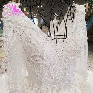 Image 3 - AIJINGYU חתונה שמלת 2021 2020 Luxuris שמלות בריטניה גואנגזו גותי שמלות למעלה שמלת כלה