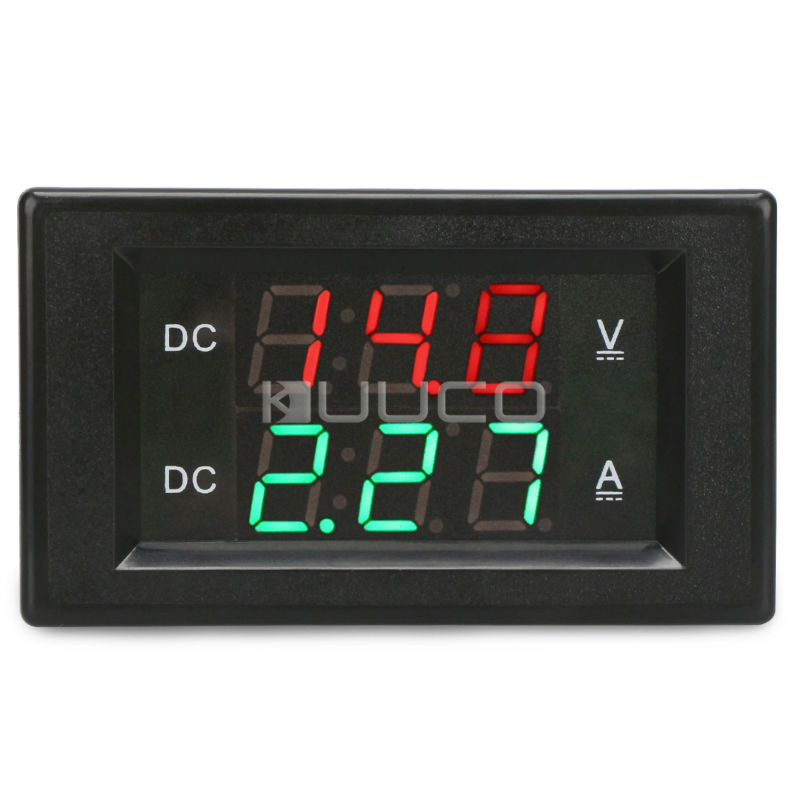 Careful 2in1 Digital Meter Dc 4.5~100v/50a Led Dual Display Voltage/current Meter Dc 12v 24v Voltmeter Ammeter 50a Shunt Easy And Simple To Handle Measurement & Analysis Instruments Instrument Parts & Accessories