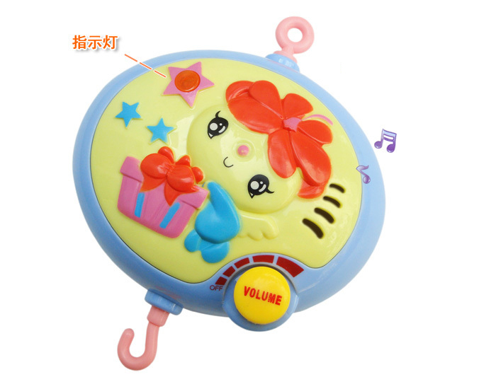 Cute bee baby infant bed bells battery-operated rotating music mobile rattles toys with 12 songs freeshipping