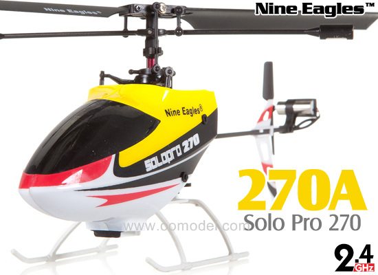 Nine Eagles Solo Pro 270 RTF 4CH Helicopter Yellow Free Express Shipping nine eagles solo pro 228p электро аппаратура 2 4ghz готовый комплект