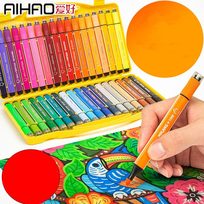 Color Pen Art Marker Drawing Set Colors Children Watercolor Pen Safe Non-toxic Water Washing Graffiti Health And Environmental