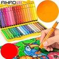 Цветные маркеры для рисования, Набор цветных маркеров для рисования, детская ручка для акварели, безопасная Нетоксичная ручка для мытья вод...