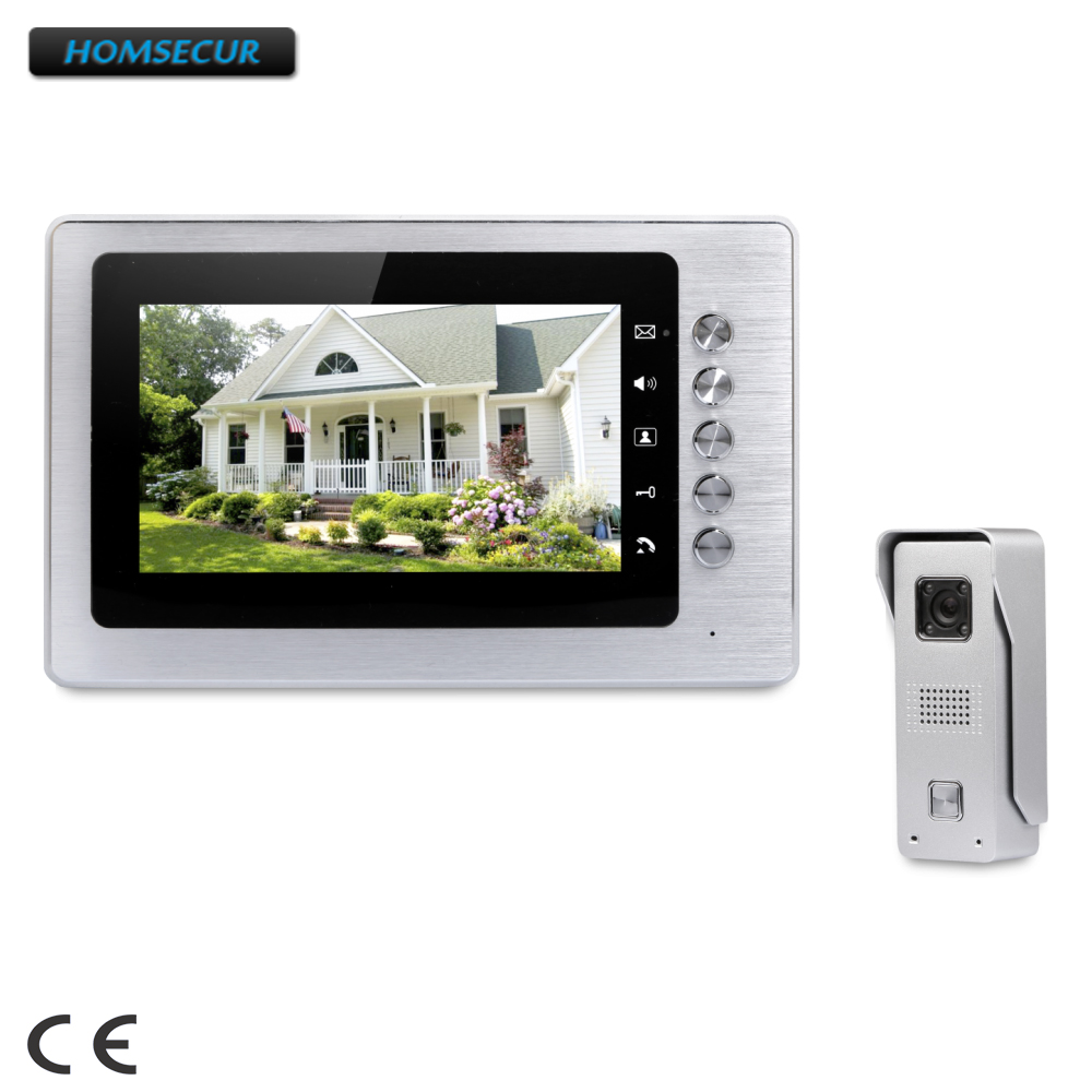 <b>Homsecur</b> 7 video door entry call <b>system</b> with mute mode for <b>home</b> ...