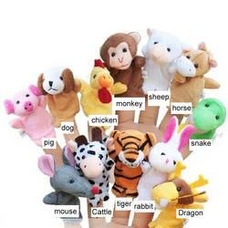 Палец куклы для детей игрушки рассказать историю реквизит зодиака Животные Детский подарок куклы животных Рождественский детские, для