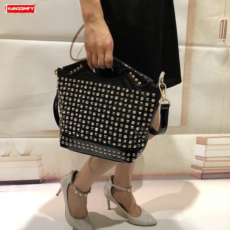 2019 Luxury fashion diamonds women handbag female crossbody bag rhinestone shoulder Messenger bag ladies slung evening
