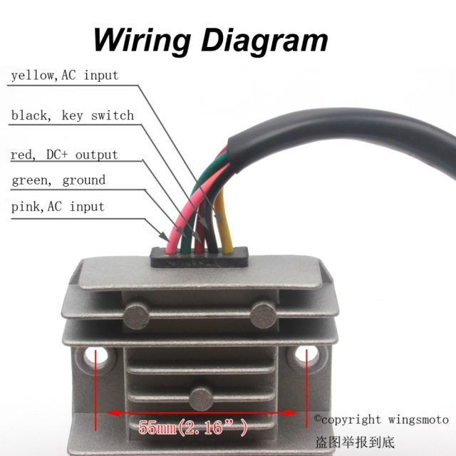 online shop 5 wires 12v voltage regulator rectifier motorcycle dirt rh m aliexpress com