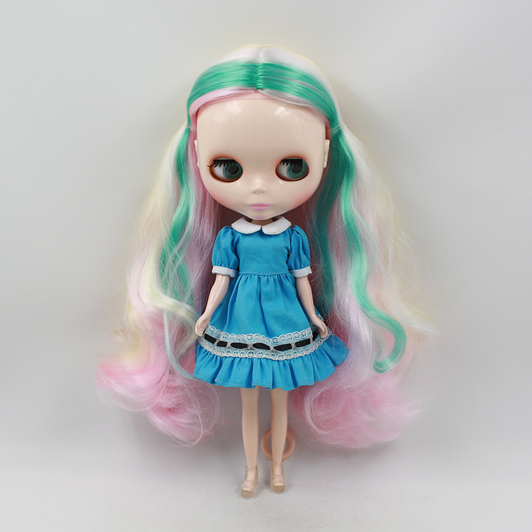 Blyth doll nude bjd 1/6 mini doll big eyes special color long hair doll modification make up face of doll mom Favorites doll eyelashes eye line strips for 1 3 1 4 1 6 bjd dolls or reborn doll accessory doll big pretty eye make up accessories