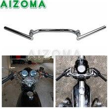 """Motocicleta ajustável 7/8 """"Euro Bares Guidão Clubman 22mm Chrome Rotatable Handle Bar Universal Para Suzuki Harley Cruiser"""