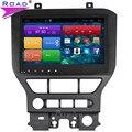 8 Дюймов Quad Core Android 4.4 Автомобилей Радио Dvd-плеер Gps-навигация Стерео Для Ford Mustang 2015 2016 Руль Bluetooth