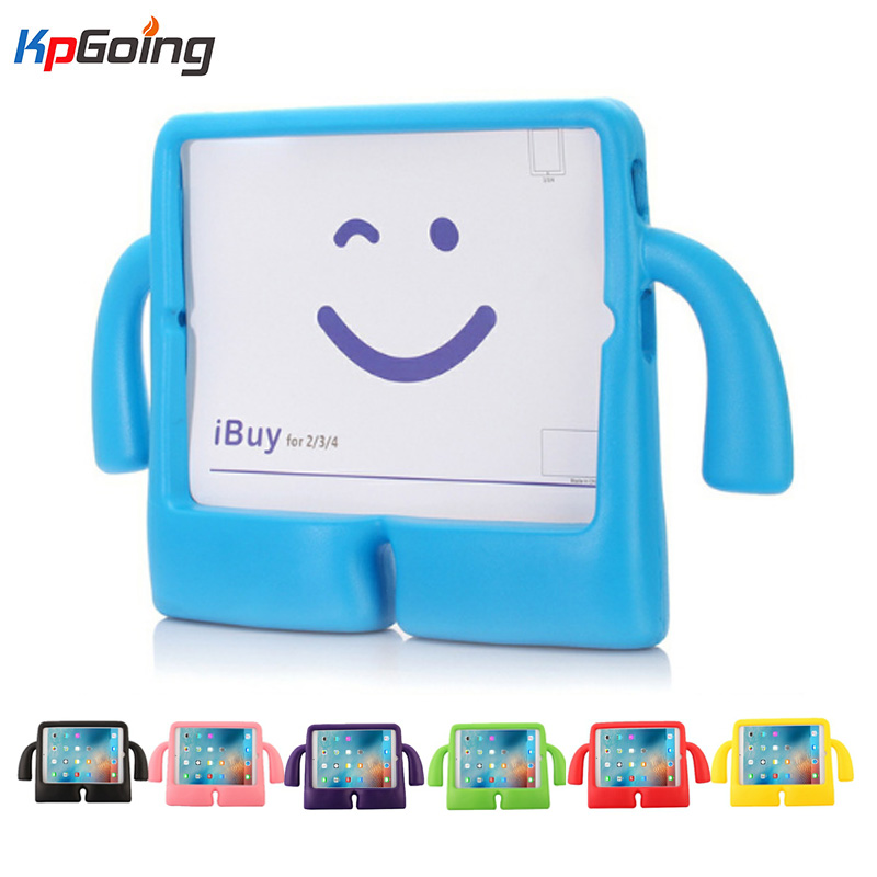 For ipad 9.7 2017 Case Safe EVA Foam Shockproof Cover for iPad Case 9.7 Funda Coque Children Kids Cute TV Stand Protective Cover