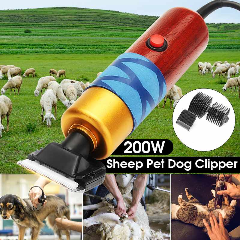 DC12V 200w Electric Shearing Horse Dog Sheep Shear Animal Pet Grooming Clipper Trimmer Hair Trimmer Cutter Pet Clipper