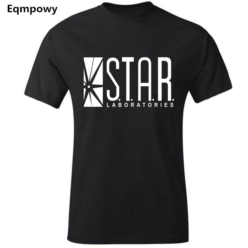 STAR Labs New Fashion T Shirt Men Summer Tops T-shirts Jumper Flash Gotham City Comic Books Superman Tv Series Men's T-shirt
