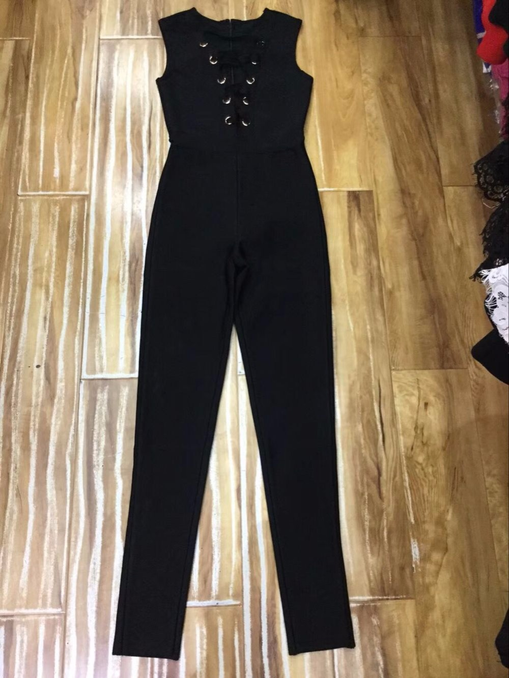 Manches Femmes 2018 Gros Bandage Mode Combinaisons Out Creux Haute Sans Qualité Élégant Sexy Noir EA0pBx8qWw