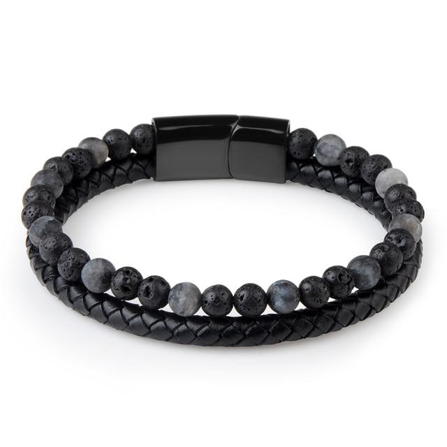 Bracelet Homme Perle Noire