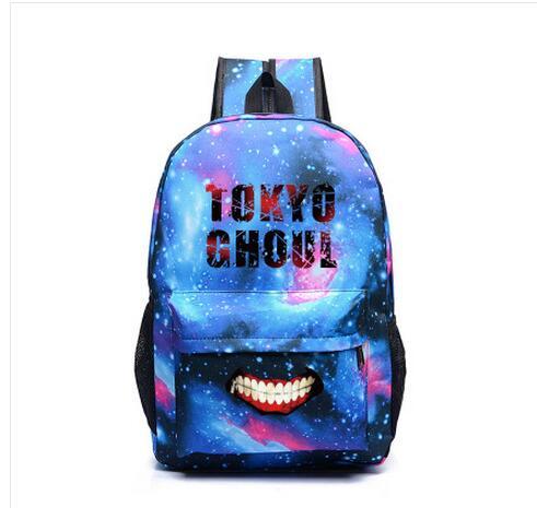 Anime Tokyo Ghoul Kaneki Ken Cosplay Backpack Canvas bag middle school student shoulder bag couple backpack travel canvas bag