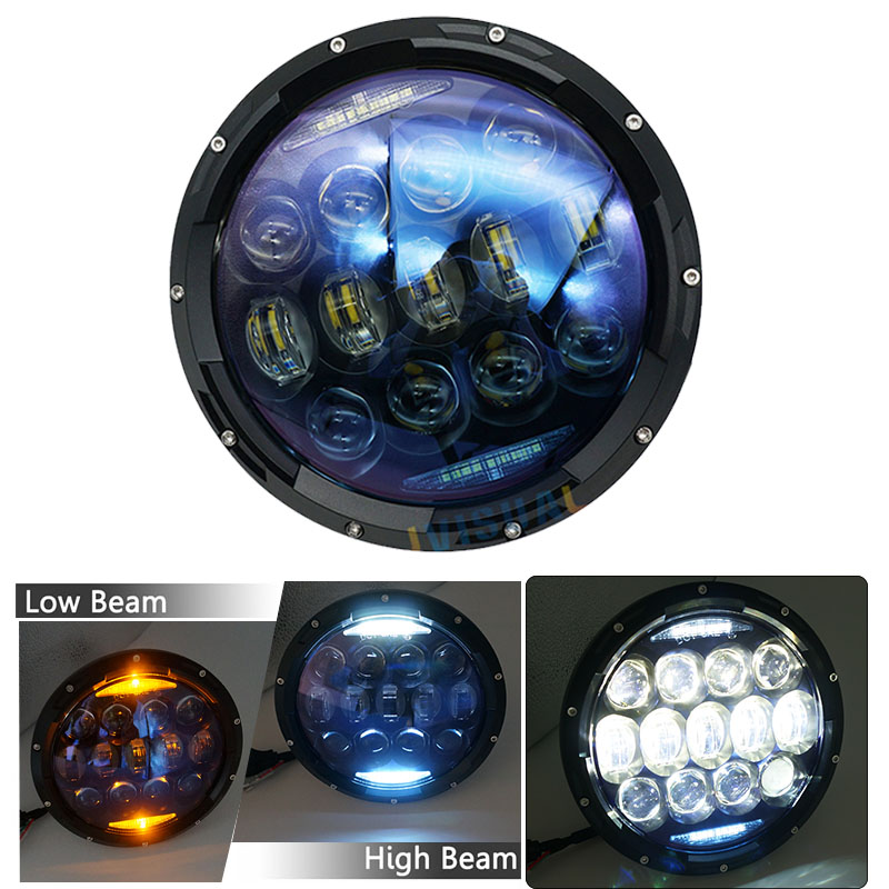 NEW Design 130W 7 inch LED Headlight With White Amber Signal Halo Ring For jeep wrangler JK LJ JKU TJ CJ Sahara Rubicon HummerNEW Design 130W 7 inch LED Headlight With White Amber Signal Halo Ring For jeep wrangler JK LJ JKU TJ CJ Sahara Rubicon Hummer