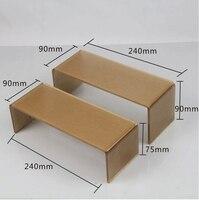 4 pcs de Alta Qualidade da Cor do Ouro Acrílico Display Rack Stand Titular Shoe Rack Titular Carrinho de Exposição Acrílico