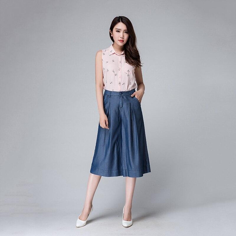 Summer and Autumn new stylish tencel denim Korean wide leg pants tencel large size women 39 s fashion ventilation jeans1617662 in Pants amp Capris from Women 39 s Clothing