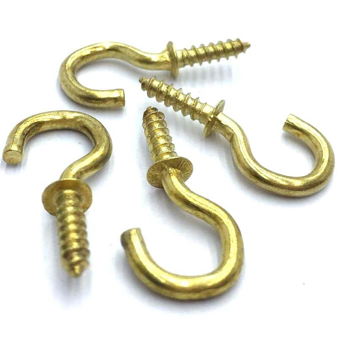 Porte-gobelet en laiton plaqué   20 pièces/ensemble de 1/2 pouces, porte-gobelet en laiton plaqué, vis à épaulettes, cintre pour manteau de haute qualité