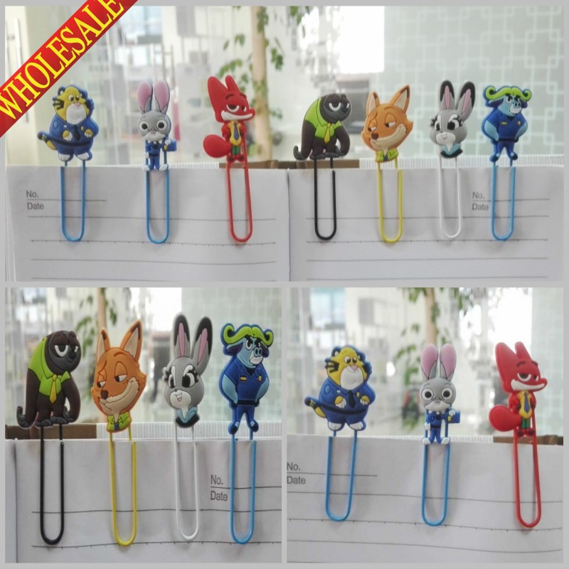 Fashion New Arrival 7PCS Cute Bookmarks,Cartoon Paper Clips,Magazine Label Reading Office Supplies For Kids Party Favor