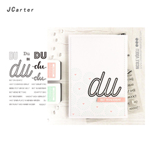 JC DU Words Clear Rubber Stamps Scrapbooking Sheet Silicone Seals Craft Stencil Album Letter Paper Card Making Decoration
