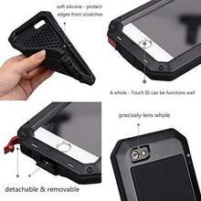 "Waterproof Shockproof Gorilla Glass Aluminum Metal Heavy Duty Case Cover Bumper for iPhone 7 6/6s 4.7"""