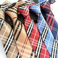 12 стиль деловых свадьба Классический Шотландский Решетки Серии мужчины галстук в полоску сетки 8 см Шелк corbatas галстук мужской Моды