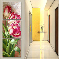 Rose 5D DIY Diamond Painting Flower Photo Custom Full Square Diamond Embroidery Cross Stitch Mosaic Triptych
