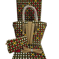 High quality hollandais wax with hand bag african wax prints fabric women hand bag dutch wax for sewing dress h180522