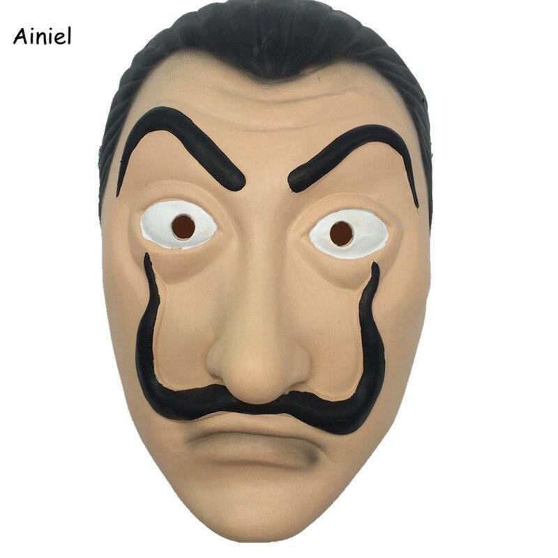 Ainiel 2018 Hot Sale La Casa De Papel Face Mask Salvador Dali Cosplay Movie Realistic Party Latex Masks