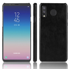 50PCS Luxury Ultra Thin Leather Litchi Case For Samsung GalaxyA8 Lite Business Style Case For Galaxy