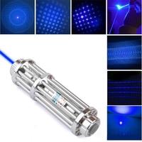 Most Powerful Burning Lazer Torch Cannon 450nm Flashlight Blue Laser Pointer Burn Dry Wood Light Cigars Hunting