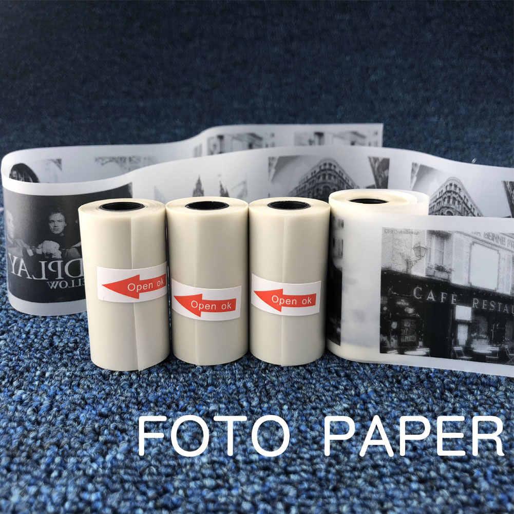 Hot 57X30 Mm Semi Transparan Thermal Cetak Kertas Roll untuk Paperang Printer Foto