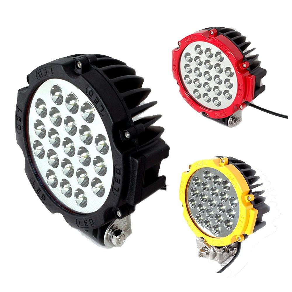 Us 34 32 12 Off Led Light Bar 1pcs 7 Inch Round Work 63w Road Spotlight Truck Lights 4x4 Tractor Fog Lamp In