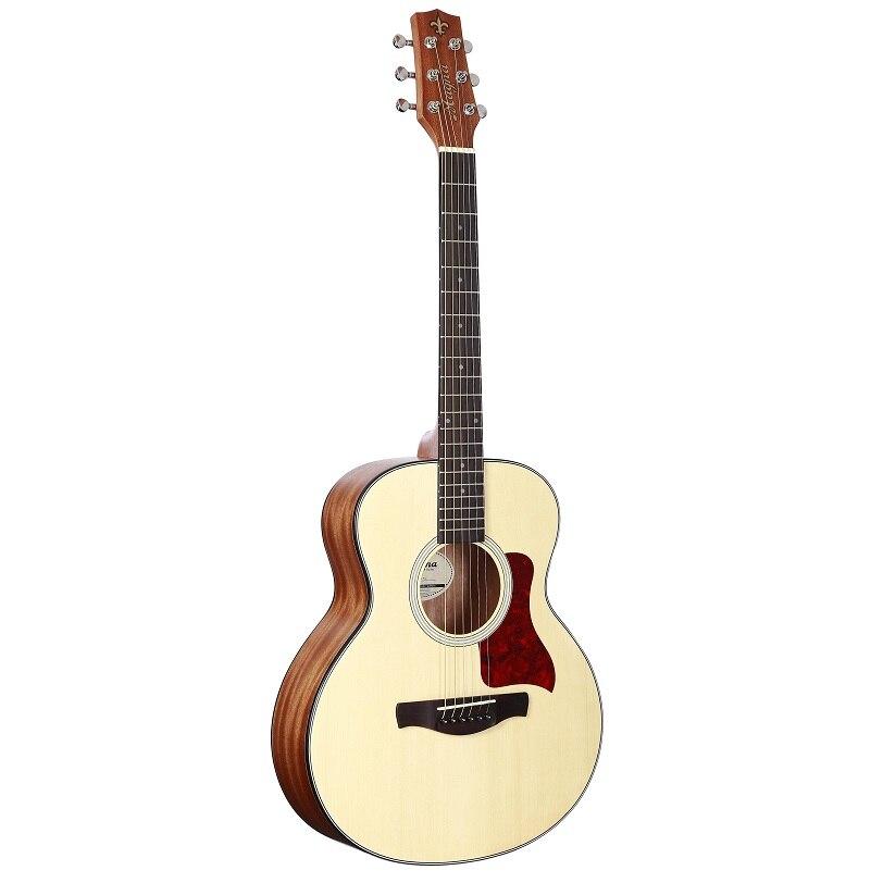 36 pouces en bois voyage guitare débutants jouent mat unisexe bois coupe guitare Spruce flottant petite guitare voyage guitare acoustique