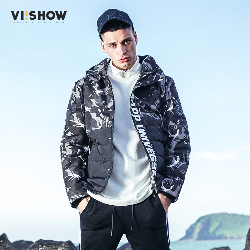 VIISHOW 2017 Famous Brand Winter Jacket Men High Quality Patchwork Warm Duck Down Jacket Coat Hooded Windproof Outwear YC2693174