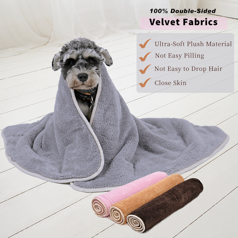 Super Soft Blanket For Dog Cat Solid Blanket For Pet Shu Velveteen Mat for Medium Big Pet 4 Colors Thick Great Quality 2 Sizes