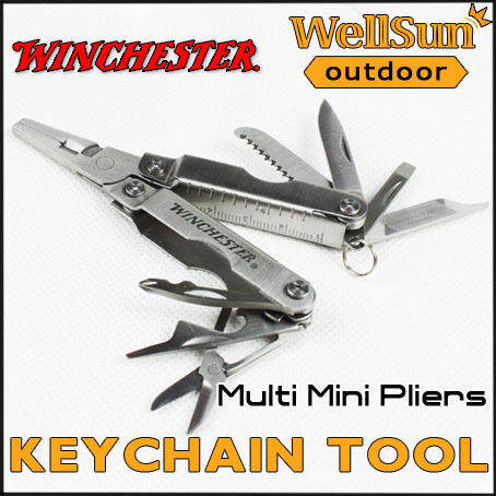 MOQ:1pc 100% OEM Winchester Mini Pliers Multitool Outdoor Knives and Pocket Knife Blade Survival Folding Knife #GB04